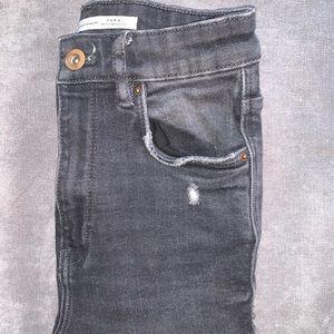 Grey Frayed Zara Jeans
